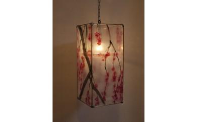 E-2220 ステンドグラス・ランプ「枝垂桜(しだれざくら)」