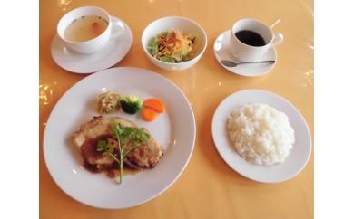 No.060 三元豚のロースステーキ オラータランチお食事券(3名様分)