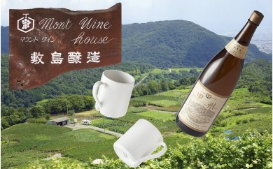 敷島醸造 一升瓶ワイン甲州×ドライジーマグセット