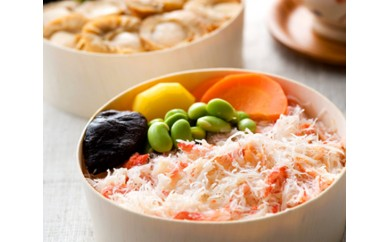 No.078 海鮮わっぱ飯(蟹&帆立) / カニ身 ホタテ 海鮮丼 北海道 人気