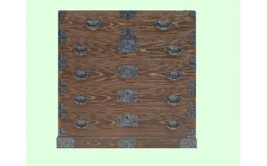 H4-10.焼桐メガネ時代箪笥
