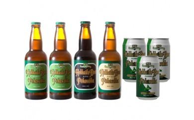 No.088 P2WS4-PK3 北海道ビールピリカワッカ4本・3缶セット / 地ビール 生ビール ピルスナー ヴァイツェン スタウト 北海道 人気