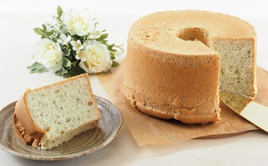 富津の海苔とチーズのシフォンケーキ