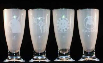 [№5850-0194]泡立つビールグラス