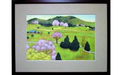 M-JCD-1 あなたの好きな『桜井市』を描きます!(テンペラ画A4額付)
