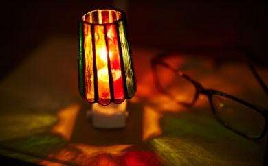 [3003806]西伊豆手づくりガラス「おやすみランプ」