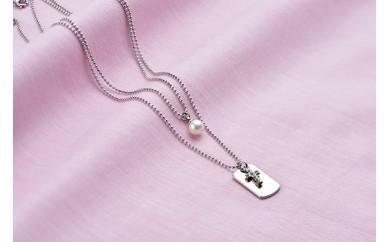 真珠品評会入賞常連のオーハタパールが作る海の宝石 アコヤ真珠 2連ペンダント(クロス)