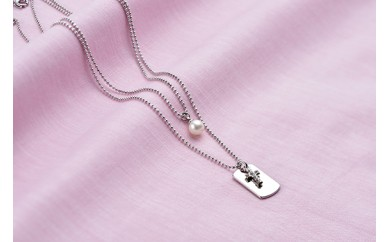 【AF94】真珠品評会入賞常連のオーハタパールが作る海の宝石 アコヤ真珠2連ペンダント(クロス)【12,000pt】