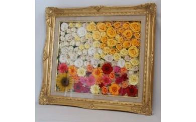 【G08】枯れないお花 プリザーブドフラワーの絵画