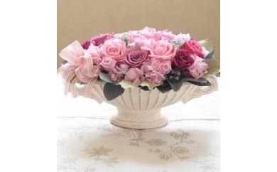 【200-003】枯れないお花プリザーブドフラワーオーバルポット