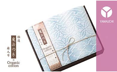泉州ガーゼ 極選「魔法の糸×オーガニック」(プレミアム綿毛布)ブルー