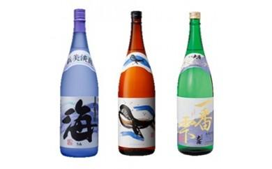 【B44001】大海酒造(海・くじら・一番雫)3本セット