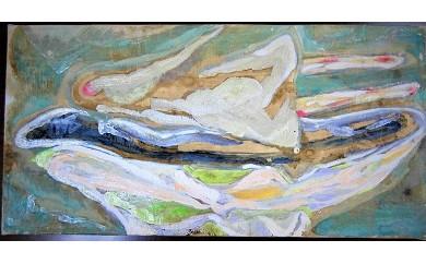 M-JAG-1 キャンバス地・油彩画「baththb」 200×400mm