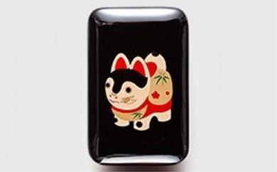 輪島塗 臍帯箱(漆小箱)黒
