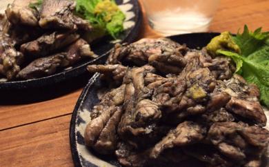 11-05町の料亭「ほてい」宮崎鶏のもも身とせせりの炭火焼A