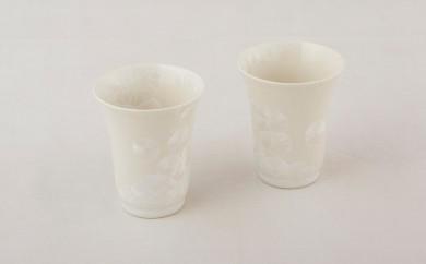P304 結晶ペアフリーカップ(白)【600pt】