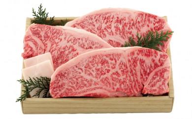 K349 長崎和牛ロース肉ステーキ(3枚)【1,600pt】
