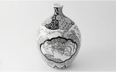 【大人気!鳳凰と花が彩る有田焼花瓶】徳利花瓶・木甲桐紋 JAPAN SNOW