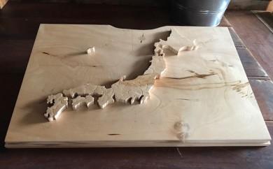 一枚板から製作した「木製の日本地図パズル」[M0003]