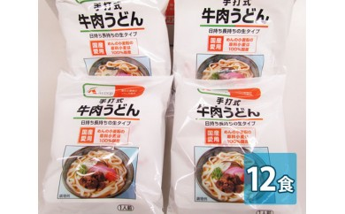 No.007 エーコープ「手打式牛肉うどん」(12食入) / 饂飩 国産小麦 冷凍 福岡県 おすすめ