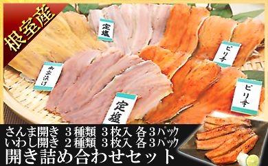 CA-18004 【北海道根室産】さんま・いわしの味付け開きセット[376581]