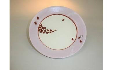 桃梅花皮 桜紋中皿