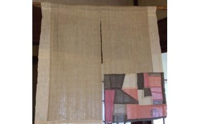染織作家 宮崎朝子の手織りヘンプのれん