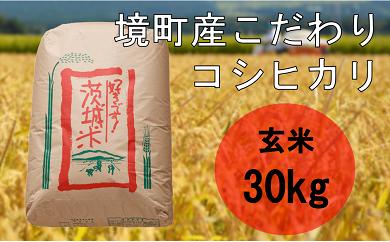 712 境町のこだわり米(29年産コシヒカリ玄米30kg)