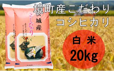 714 境町のこだわり米(29年産コシヒカリ白米20kg)