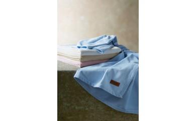 P096 海島綿シール織綿毛布/ブルー【30,000pt】