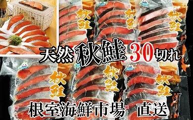 CA-14050 根室海鮮市場<直送>天然甘口秋鮭30切[379414]