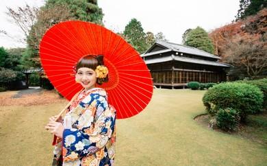 【L001】飯塚を代表する日本邸宅「麻生大浦荘」 結婚記念日フォトプラン