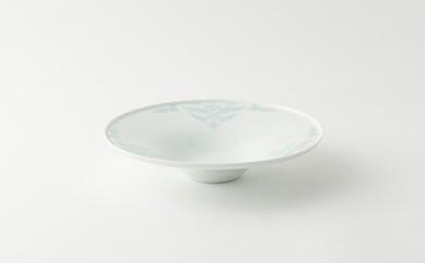 伊万里焼/畑萬陶苑/青磁唐花浮彫反パスタ皿