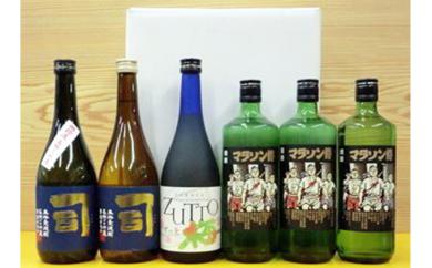 [№5815-0058]本格麦焼酎と梅酒と焼酎「焼酎・梅酒6本セット」