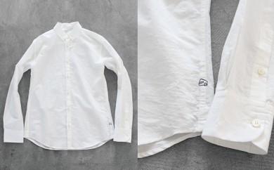 [№5786-1607]HUIS遠州織物コットンリネンシャツ(白)