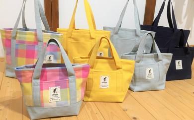 [№5786-1143]遠州浜松産 老舗織り屋のトートバッグ(中)4色展開