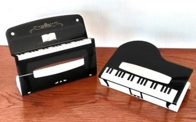 [№5786-1432]【音楽の都 浜松】ピアノデザインのBOXティッシュカバー2点セット