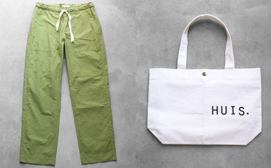 [№5786-1673]HUIS遠州織物タイプライタークロスベイカーパンツ&トートバッグ