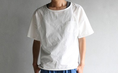 [№5786-1595]HUIS遠州織物シームレス半袖オーガニックコットンカットソー