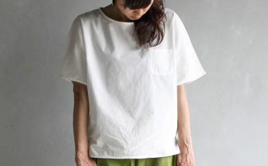 [№5786-1594]HUIS遠州織物シームレス半袖コットンカットソー
