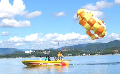 [№5786-1600]浜名湖パラセーリング体験ペアチケット