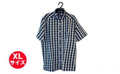 [№5786-1565]武櫬衣インディゴシャツ(半袖) XL