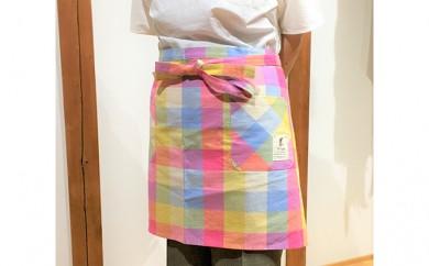 [№5786-1142]遠州浜松産 老舗織り屋のカフェエプロン