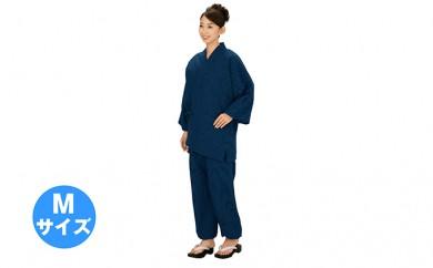 [№5786-1670]伝印 作務衣  (ドット柄 綿100%) 紺・M
