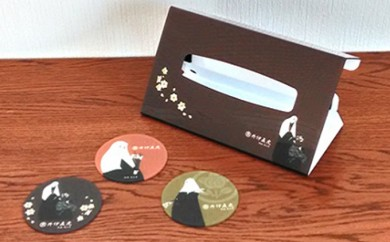 [№5786-1431]【井伊直虎】(画:光山房) コースター(3枚)&BOXティッシュカバーセット
