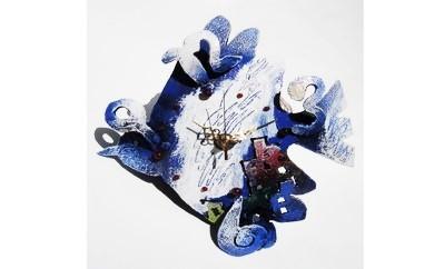 【H005】とりの時計(鉄アート)