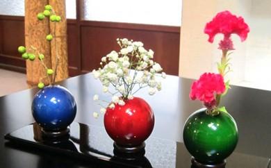 [№5786-1160]〈ピアックス〉木製花器「きゅうと」3個セット・敷板1枚
