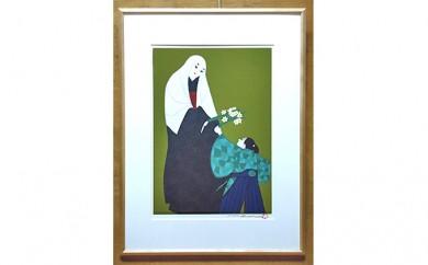 [№5786-1687]版画「井伊直虎と虎松」