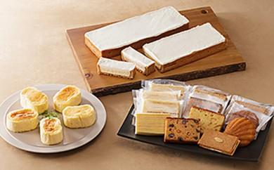 [№5786-1315]まるたや洋菓子店 まるたやのチーズケーキと半熟チーズスフレと焼き菓子詰合せ