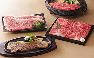 [№5786-1338]しずおか和牛 すき焼き&ステーキ用セット